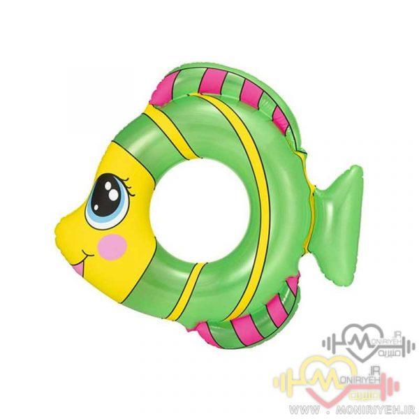 تیوب شنای کودک طرح ماهی سبز
