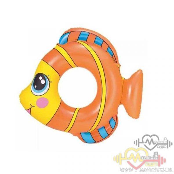 تیوب شنای کودک طرح ماهی نارنجی