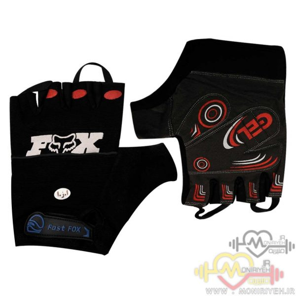 دستکش بدنسازی فاکس هد مدل Fast Black