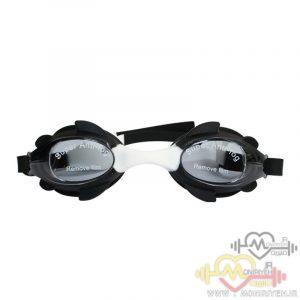 عینک شنا بچگانه مشکی سفید