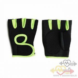 دستکش بدنسازی بانوان فوم PU – مشکی زرد