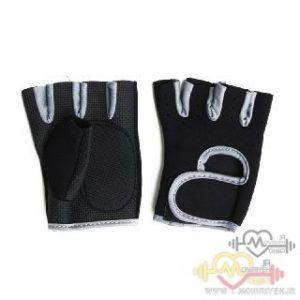 دستکش بدنسازی بانوان فوم PU – مشکی طوسی
