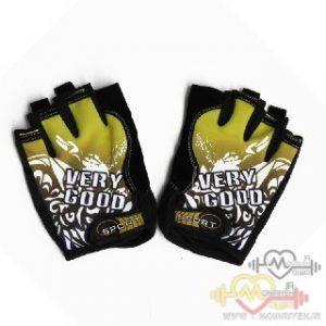 دستکش بدنسازی استرج بانوان اسپایدر – مشکی طلایی