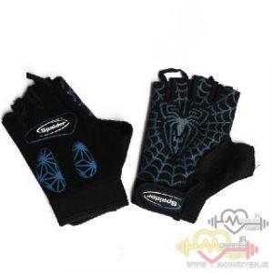 دستکش بدنسازی استرج بانوان اسپایدر – مشکی آبی
