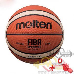 توپ بسکتبال Molten مدل فیبا به همراه سوت ورزشی