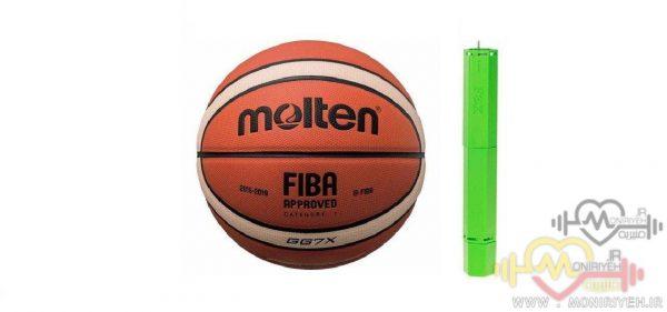 توپ بسکتبال molten مدل GG7X به همراه تلمبه فاکس